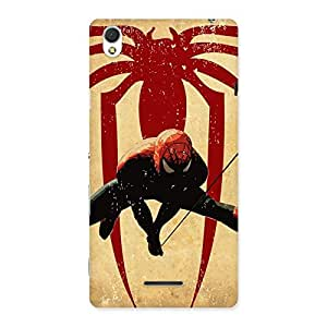 Hanging Web Multicolor Back Case Cover for Sony Xperia T3