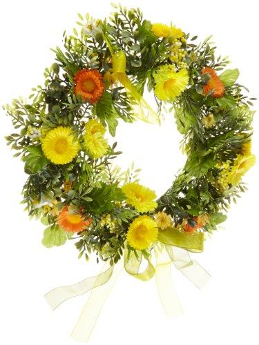 Heitmann Deco - Frühlings-Kranz mit Blumen dekoriert - wunderschöne Dekoration für Frühling und Ostern - Kunststoff