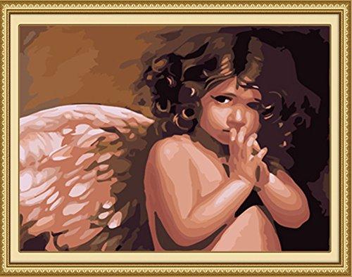 ahlen Kit für Erwachsene Anfänger 40,6x 50,8cm-Little Angel Baby, Zeichnen mit Pinsel Weihnachten Decor Dekorationen Geschenke Without Frame ()