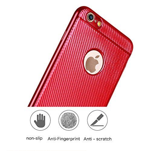 iPhone 6s plus Silikonhülle,iPhone 6 plus Hülle,xinyunew [2.5D Stahlfolie Displayschutzfolie] Anti-Fingerabdruck,Anti-Scratch,Styliche Hochwertige Extra Dünne soft Schutzhülle Schale Cover Case Hardca Schwarz