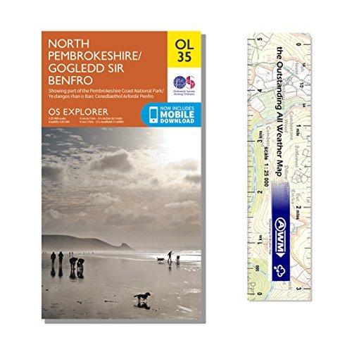 Ordnance Survey Pack - Explorer Map OL35 ~ North Pembrokeshire plus scale ruler