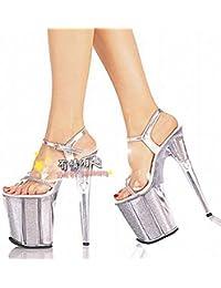 conserver des talons de 20 cm la nuit de danse de tuyaux en acier chaussures chaussures défilé photo photo,cristal noir