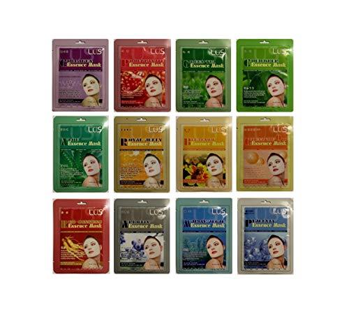 Pack de 12 masques tissus pour soins du visage pour tous types de peau - Cosmétiques coréens