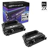 SPEEDYINKS Kompatibel HP CC364A HP 64A 2er Pack Schwarz Laser Tonerkartuschen für Laserjet P4014dn, P4014n, P4015dn, P4015n, P4015tn, P4015x, P4515n, P4515tn und P4515x Drucker