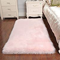 Faux Sheepskin Rug ,Rectangular,Fur Faux Fleece Fluffy Area Rugs Anti-Skid Yoga Carpet for Living Room Bedroom Sofa Floor Rugs