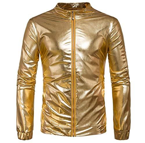 Lannister Fashion Jacke Sweatjacke Freizeitjacke Ohne Kapuze Bekleidung Stehkragen Mit Herbst Slim Fit Rundhals Streetwear Casual Gold...