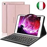 SENGBIRCH Nuova iPad Mini 5 Custodia per Tastiera, Cover Intelligente per Supporto Cavalletto Magnetico con Tastiera Bluetooth Rimovibile per iPad Mini 5 7.9 Pollici-iPad Mini 4/3/2/1, Oro Rosa