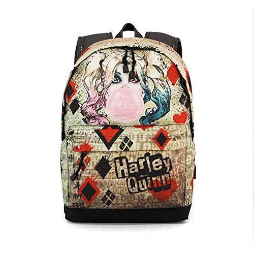 Karactermania Harley Quinn Mad Love Mochila Tipo Casual, 44 cm, 23 litros, Beige