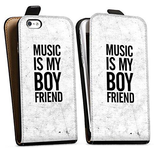 Apple iPhone X Silikon Hülle Case Schutzhülle Musik Liebe Freund Downflip Tasche schwarz