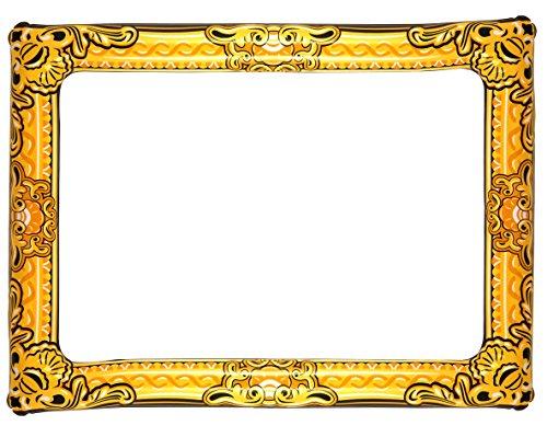 Henbrandt Aufblasbare Photo Frame Neuheit Großer Gold-Zusatz Fotokabine 60cm x 80cm (Große Foto-frame)