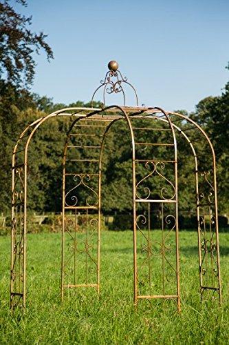 kuheiga Pavillon/Gartenpavillon Ø: 230cm aus Metall Eisenpavillon Pergola Rost