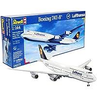 Revell Modellbausatz Flugzeug 1:144 - Boeing 747-8 LUFTHANSA im Maßstab 1:144, Level 5, originalgetreue Nachbildung mit vielen Details, Zivilflugzeug, Passagierflugzeug, 04275