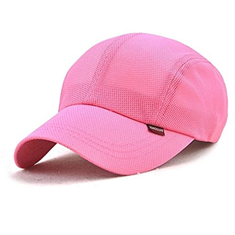 Baseball Cap Quick Dry Mesh Sports Caps for Golf Cycling Running Fishing Outdoor Pink