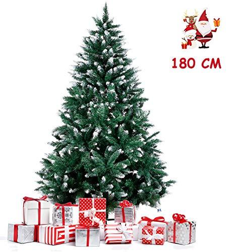 amzdeal Árbol de Navidad 180cm, Árbol de Navidad Artificial con Soporte Metálico...