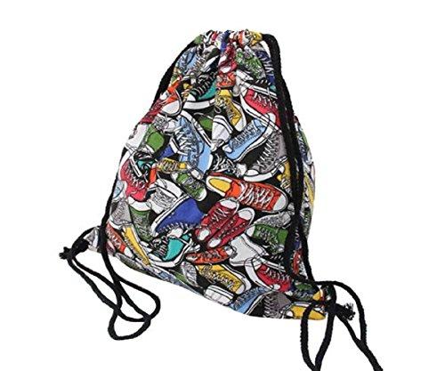 Preisvergleich Produktbild Rcool Mode Unisex Canvas Tunnelzug Rucksäcke Taschen drucken Multicolor