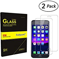 Verre Trempé pour iPhone 7 Plus/ iPhone 8 Plus, 2-Pack Bodyguard Premium ultra résistant Glass Protection écran pour iPhone 7 Plus/ iPhone 8 Plus 5,5'' (99% HD Clear)