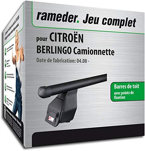 Rameder Pack Barres de Toit Tema pour CITROËN BERLINGO Camionnette (118848-06732-9-FR)