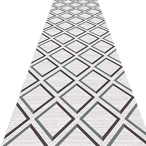 SESO UK- Nordic geometrischer Teppich Läufer für Flur Treppen, Gewerbe Haushalt Hotel Halle Langen Teppich Runner (Size : 80×400cm)