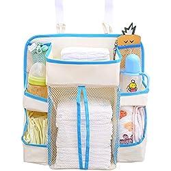 Organizador de pañales, Sunzit para bebé organizador multifunción para colgar en la mesita de noche bolsa de almacenamiento