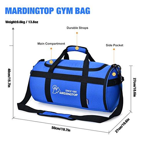 Mardingtop Unisex Sporttasche Tasche Fitnesstasche Reisetasche Gym Bag Jujube rot