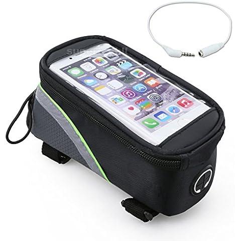 ZJstyle® Durable Bike Bag della bicicletta della bici manubrio della pagina Pannier frontale Top Bag Tubo pacchetto Phone Bag per Iphone 6 6 Plus Samsung 4,8 / 5,5 inch mobile Cellulare - Biciclette Pannier