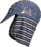 Playshoes Jungen Mütze Bademütze AHOI mit UV-Schutz, Blau (Jeansblau 3), Medium (Herstellergröße: 51cm)