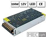 LED Netzteil LED Trafo 12V DC, 12,5A 150W, Konstantspannung, CE, Selv, Schutzarten: Kurzschlussschutz, Überspannungsschutz. Für LED Produkte 12V DC, LED Leuchtmittel, RGB Controller, LED Streifen,