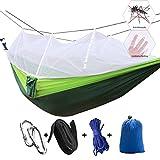 Campeggio amaca con zanzariera, doppia persone Iqammocking letto tenda culla portatile per rilassamento, viaggi, fuori il tempo libero, Green