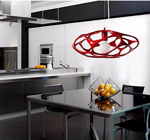 VanMe Personalità Creative Europeo Lampadario Nordico Delle Lampade Di Illuminazione Cubo Minimalista Moderno,Rosso