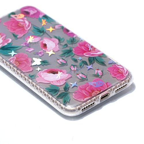 Pour Apple Iphone X Case Cover, Ecoway TPU Soft Motif de placage en couleur personalized pattern Housse en silicone Housse de protection Housse pour téléphone portable pour Apple Iphone X - diamant datura