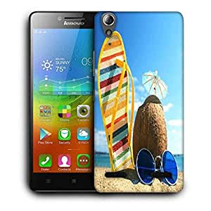 Snoogg Summer Beach Printed Protective Phone Back Case Cover For Lenovo A6000