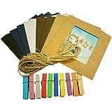 SODIAL (R) - 10marcos de fotos de papel para colgar + cuerda