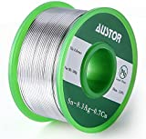 Austor 0.8mm Lead Free Solder Wire with Rosin Core, Sn 99% Ag 0.3% Cu 0.7%, 100g