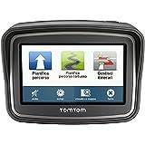 TomTom Rider Europe (v4) Motorradnavigationsgerät (10,9 cm (4,3 Zoll) Display, Free Lifetime Maps, Europa 45, kurvenreiche Strecke, Tyre Pro) schwarz