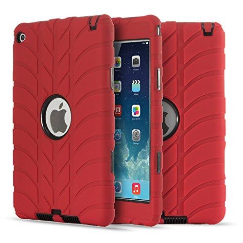 Schutzhülle für iPad Mini 4, Fisel Reifen-Design, dreilagig, robust, stoßfest, Kratzfest, stoßfest, stoßfest, stoßfest (Tech 21 Ipad Mini)