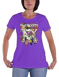 Marmozets T Shirt Growing Flowers band logo offiziell Nue damen Skinny Fit