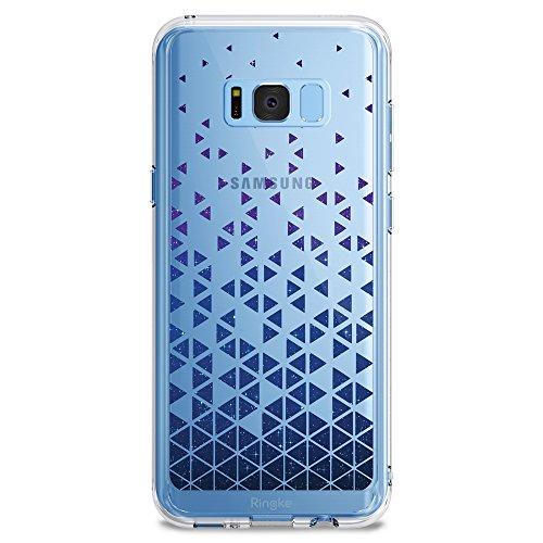 Galaxy S8 Hülle, Ringke Fusion [Stargaze Waterfall] Nettes hübsches Transparentes Entwurfs-Chic-ultra dünnes Muster-schützender TPU-Tropfen-beständiger cover, Samsung Galaxy S8 Schutzhülle (Leder Orchid Faux)