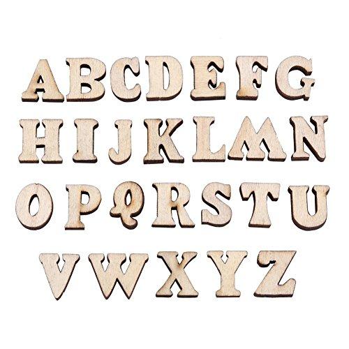 200Stück Holz 0-9Zahlen und A-Z Holz Buchstaben DIY Spielzeug für Kinder Kinder Early Learning, TYPE#1 Letters (Holz-buchstaben Zahlen)