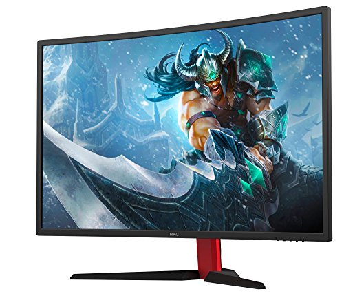 HKC G27 - NB27C2, 27 inch (68.60cm) LED Gaming Monitor, Curved 1800R, 144Hz, Full-HD 1920x1080, (16:9, 300cd/m2, 3000:1, DisplayPort, HDMI, DVI, Freesync, Low-Blue light), black/red