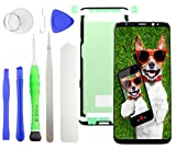 TOKA-VERSAND Frontglas für Samsung Galaxy S8 G950F Display LCD Reparatur Set Front Glas Touchscreen Scheibe und Klebefolie mit 8x teiliges Werkzeug [magnetisch] Schwarz