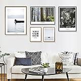 Limiz Gemälde Nordic Wandbild Schlafzimmer Kleine frische Wohnzimmer Dekorative Malerei Fotowand Kombinierte Malerei Restaurant Sofa Hintergrund Wand (Size : 170 * 85CM, Style : Water)