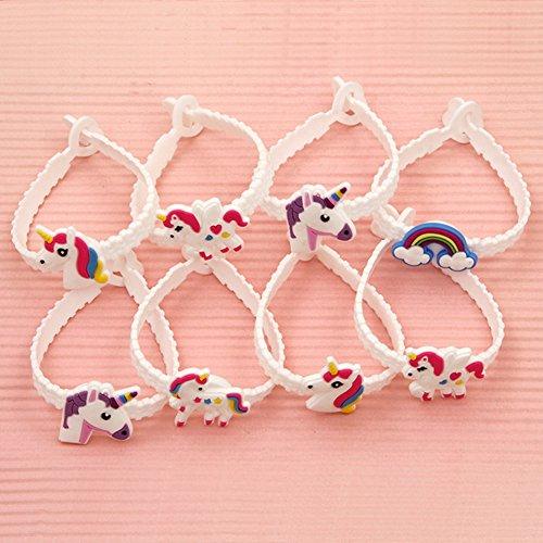 regalini fine festa bambini  15x Mitgebsel Unicorno Bracciale bianco con fibbia Motifical Heart ...
