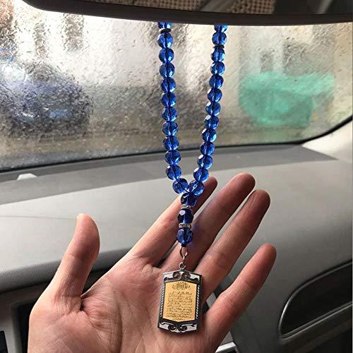 Kristall AYATUL KURSI Auto Rückspiegel Auto Anhänger hängendes Auto Styling ZubehörKoran Islam muslimischenAuto Anhänger