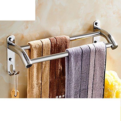 Portasciugamani in acciaio inox/ bagno asciugamano appeso/ bathroom wall e Sapone/ doppia cremagliera di tovagliolo-A