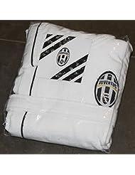 Juventus 9633 065 Microspugna 2130 Albornoz Para Adulto Talla M, 100% Algodón, Blanco y Negro, 25 x 28 x 5 cm