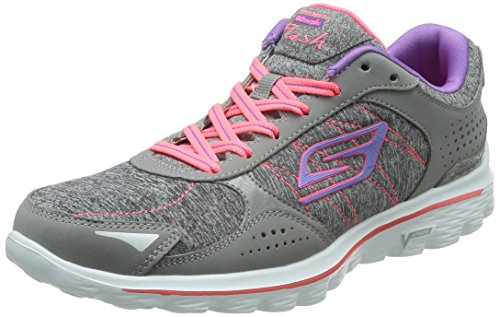 Skechers Go Walk 2 Flash Gym Ladies Shoe Gris