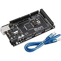 ELEGOO MEGA 2560 R3 Controller Board Compatible with Arduino IDE ATmega2560 ATMEGA16U2 with USB Cable Black Version