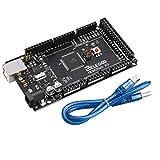 Elegoo Mega 2560 R3 Scheda Board Nero ATmega2560 16U2 Compatibile con Arduino Cavo USB