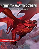 Lost is the poor soul borne aloft in the grip of the ancient red dragon featured in a spectacular panoramic vision by Tyler Jacobson on this durable, four-panel Dungeon Master?s Screen. The interior rules content on this new screen has been revisited...