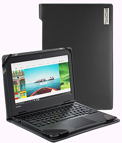 Chromebook 11e Thinkpad Lenovo (Broonel - Profile Series - Schwarzes premium leder Case / Cover Trage Tasche speziell für das Lenovo ThinkPad Yoga 11e Multimode Chromebook)